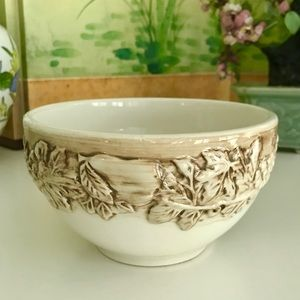 Vintage Dining - Vintage Euro Ceramica Vineyard Bowl w/Grapes EUC